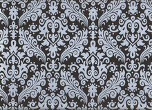 Riley Blake Damask Sparkle Black
