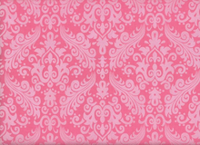 Riley Blake Damask Sparkle Hot Pink