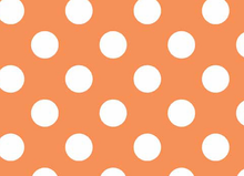 Riley Blake Dots Flannel Orange