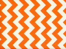 Riley Blake Le Creme Chevron Cotton Orange