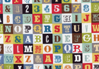 Riley Blake Sasparilla Alphabet Cotton Multi
