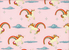 Riley Blake Unicorns and Rainbows Cotton pink