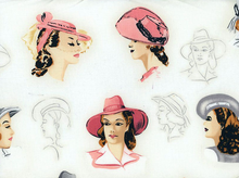 Retro Glamour Girls Profiles Cotton Blush