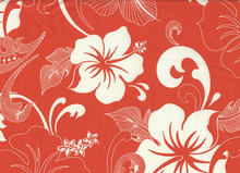 Robert Kaufman Hawaiian Flowers Cotton Tangerine