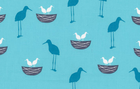 Robert Kaufman Long Leg Birds Cotton Fabric Blue
