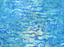Robert Kaufman Nature's Creations Waves Batik Water