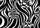Robert Kaufman Optical Swirl Cotton Black and White