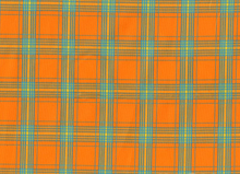 Robert Kaufman Woven Plaid Cotton Summer Orange