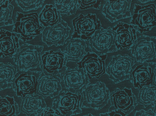 Rose Double Knit Teal and Black
