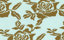 Rose Garden Cotton Canvas Fabric Blue