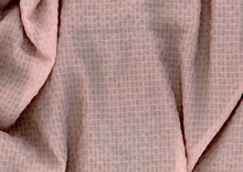 Rose Pink Chiffon Check Fabric