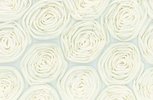 Rosettes Fashion Fabric Cream
