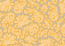 Royale Floral Cotton Fabric Taupe