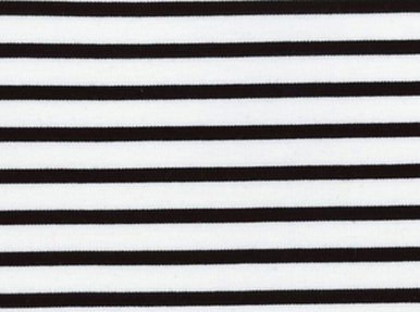 Saint-James Striped Interlock Knit Black on White