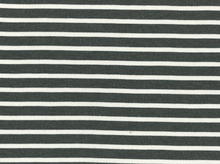 Saint James Striped Interlock Knit Grey and Ecru