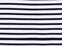 Saint-James Striped Interlock Knit Navy on White