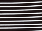 Saint-James Striped Interlock Knit White on Black