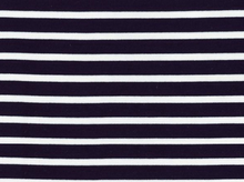 Saint-James Striped Interlock Knit White on Navy