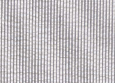 Seersucker Stripe Fabric Grey