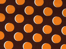 Shadow Dot Cotton Fabric Brown