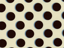 Shadow Dot Cotton Fabric Cream