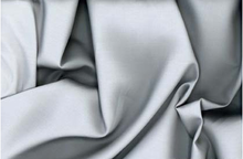 Silk Cotton Sateen Fabric Silver 42""