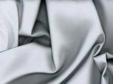 Silk Cotton Sateen Fabric Silver
