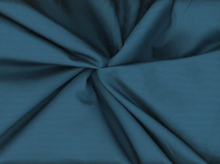 Silk Cotton Sateen Fabric Teal