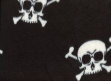 Skull and Cross Bone Fleece Black