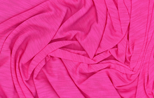 Slub Knit Fabric Hot Pink