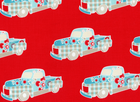 Spice Truck Cotton Fabric Red
