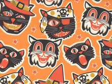 Spooktacular Cats Cotton Orange