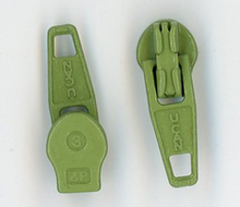 Spring Green Metal Zipper Pull #3