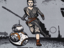 Star Wars Rey and BB8 Fleece Grey