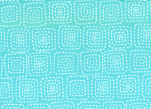 Stitch Square Cotton Aqua