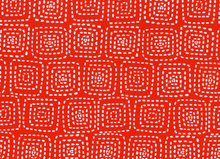 Stitch Square Cotton Red