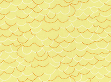 Story Book Lane Scallops Cotton Fabric Yellow