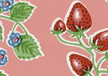 Strawberries Oilcloth Pink