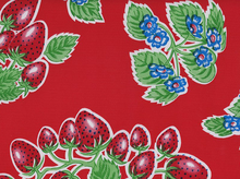 Strawberries Oilcloth Red