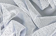 Stretch Fishnet Costume Fabric White 58""