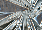 Stretch Metallica Foil Knit Fabric Silver