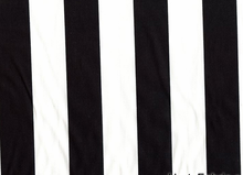 Stretch Twill Thick Stripe Black