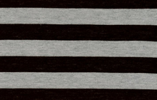 Stripe Knit Fabric Black and Grey