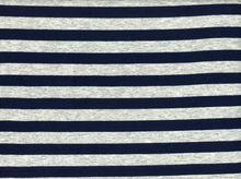 Stripe Knit Jersey Grey and Navy