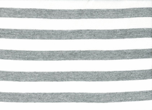 Stripe Sweatshirt Fleece Grey