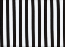 Striped Bottom Weight Cotton Black & White