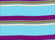 striped Rayon Challis Blue & Purple