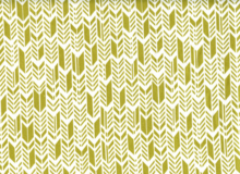 Sun Print Feathers Cotton Olive Green