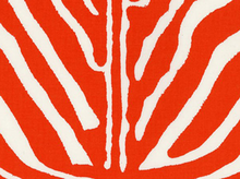 Super Fly Zebra Print Cotton Orange