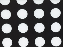 Swimwear Large Dot Black and White